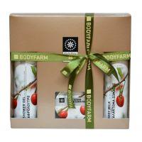 Подарочный набор косметики Bodyfarm (Бодифарм) ягода годжи (гель для душа 250 мл+молочко для тела 250 мл+скраб 200 мл)