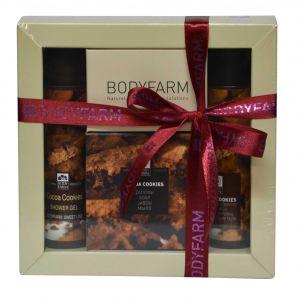 Мини набор косметики Bodyfarm (Бодифарм) шоколадное печенье (гель для душа 50 мл+молочко для тела 50 мл+мыло 110 г)