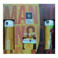 Подарочный набор косметики Bodyfarm (Бодифарм) манго (гель для душа 250 мл+молочко для тела 250 мл+крем-масло 200 мл)