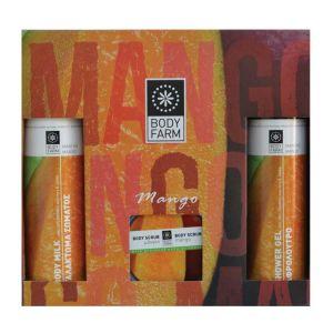 Купить Подарочный набор косметики Bodyfarm (Бодифарм) манго (гель для душа 250мл+молочко для тела 250мл+скраб 200мл)