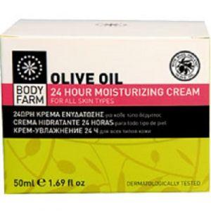 Купить Крем для лица Bodyfarm (Бодифарм)24ч увлажняющий с оливковым маслом 50 мл