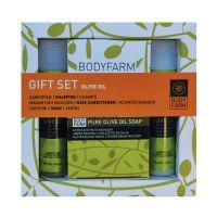 Мини набор косметики №2 Bodyfarm (Бодифарм) С Оливковым Маслом (Шампунь 50 мл+Кондиционер 50 мл+Мыло 150 г)