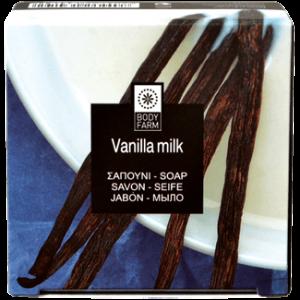 Купить Мыло для тела и лица Bodyfarm (Бодифарм) ваниль-молоко 110гр