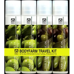 Дорожный набор косметики Bodyfarm (Бодифарм) 4x50 мл с оливковым маслом