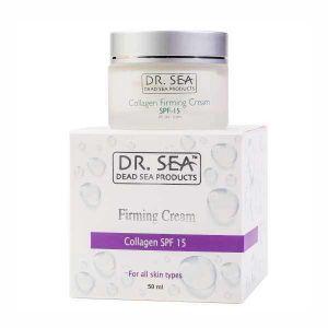 Крем для лица Dr. sea (Доктор Си) Коллагеновый укрепляющий от морщин SPF15 50 мл