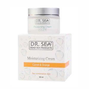 Крем для лица и шеи Dr. sea (Доктор Си) Увлажняющий с маслами моркови и экстрактом апельсина 50 мл