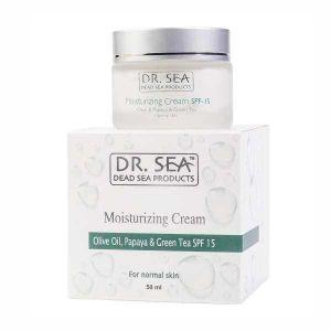 Крем для лица Dr. sea (Доктор Си) Увлажняющий с маслом оливы, экстрактом папайи и зеленого чая SPF15 50 мл