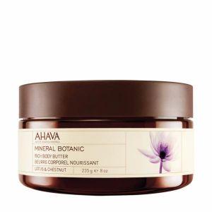 Крем-масло для тела Ahava (Ахава) Mineral Botanic - SPA лотос - сладкий каштан питательное 235 мл