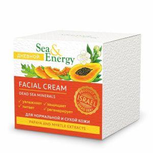 Дневной крем Sea & Energy (Си Энерджи) для нормальной и сухой кожи лица с экстрактами папайи и мирта 50 мл