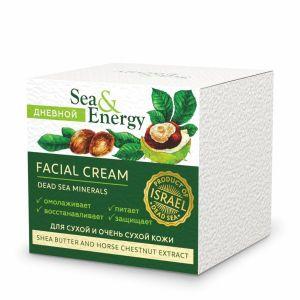 Крем Sea & Energy (Си Энерджи) для сухой и очень сухой кожи лица с маслом ши и экстрактом конского каштана 50 мл