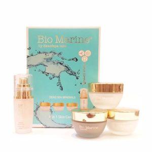 Набор косметики для лица Bio Marine (Sea of Spa) минеральные средства для ухода за кожей лица (4 предмета) 50+50+50+40  мл