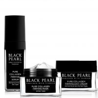 """Набор """"Чистый коллаген"""" (Укрепляющая сыворотка, Укрепляющий дневной крем, Коллагеновая маска) Black Pearl (Sea of Spa) 130 мл"""