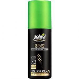 Крем для интенсивной защиты волос с кератином Natural Formula Careline 145 мл