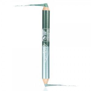 Двойной карандаш (карандаш для глаз+тени в карандаше) 2,8 г. Вечерний PuroBio (ПуроБио) Цвет № 02N сине-зеленый/изумрудно-зеленый