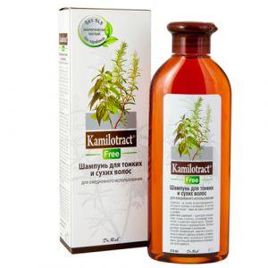 Лечебный шампунь для редких и тонких волос Kamilotract Free 270 мл