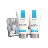 SPA набор №4 (Очищающее молочко и средство для снятия макияжа, Очищающий скраб для лица) SeaCare, 300 мл