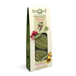 """Купить Подарочный набор из 2х видов натурального мыла для тела Aphrodite (Афродита) """"Бодрящие ароматы"""" 170 г"""