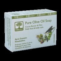 Натуральное мыло BIOselect (БиоСелект) с оливковым маслом,маслом какао и мятой / soap ORGANIC FOR DAILY FACE & BODY CARE 80 мл