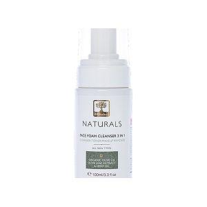 Очищающая пена 3 в 1 для умывания и снятия макияжа Bioselect Naturals 100 мл
