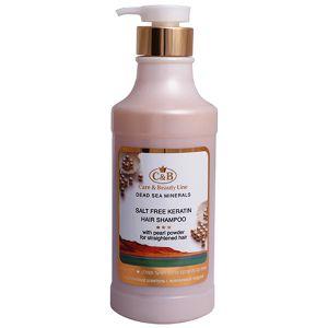 Бессолевой кератиновый шампунь с жемчужной пудрой- Care & Beauty Line, 750 мл