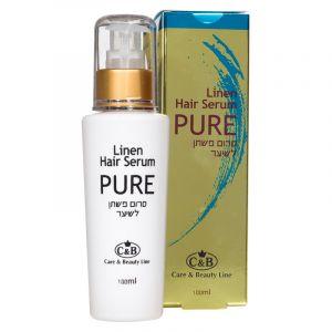 Льняная сыворотка (серум) для волос Care & Beauty Line, 100 мл