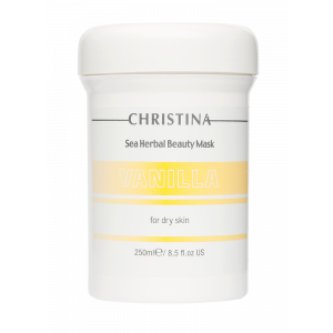 Маска красоты на основе морских трав для сухой кожи «Ваниль» Sea Herbal Beauty Mask Vanilla for dry skin Christina (Кристина), 250 мл