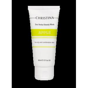 Маска красоты для жирной и комбинированной кожи «Яблоко» Sea Herbal Beauty Mask Apple for oily and combination skin Christina (Кристина), 60 мл