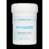 Увлажняющий крем c витаминами А, Е и гиалуроновой кислотой для нормальной кожи «Эластин, коллаген, азулен» ElastinCollagen Azulene Moisture Cream with Vitamins A, E & HA for normal skin Christina (Кристина), 250 мл