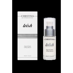 Подтягивающая сыворотка для кожи вокруг глаз и шеи Wish Eyes & Neck Lifting Serum Christina (Кристина), 30 мл