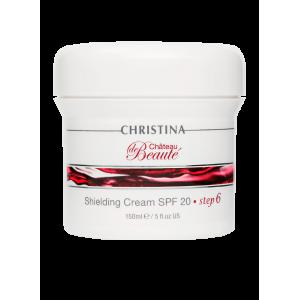 Защитный крем SPF 20 (шаг 6) Chateau de Beaute Shielding Cream SPF 20 Christina (Кристина), 150 мл