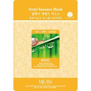 Тканевая маска для лица с улиточным муцином Mijin care (Миджин) 23 г