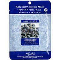Тканевая маска для лица с экстрактом ягод асаи Mijin care (Миджин) 23 г