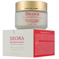 Крем ночной для лица увлажняющий и питательный с маслом макадамии - Deora, 50мл