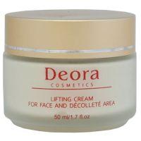 Лифтинг крем для лица и области декольте - Deora, 50мл