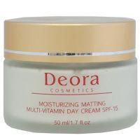 Мультивитаминный увлажняющий и матирующий дневной крем SPF 15 - Deora, 50мл