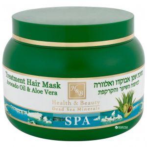 Маска для волос Health & Beauty, c маслом авокадо и алоэ 250 мл