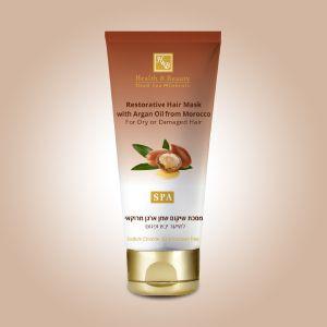 Маска восстанавливающая для сухих и повреждённых волос с маслом Арганы Health & Beauty 200 мл