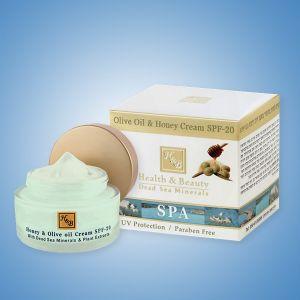 Крем для лица Health & Beauty, с медом и оливковым маслом SPF-20 50 мл