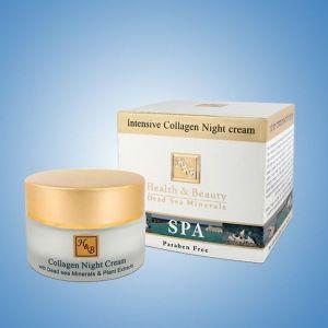 Крем для лица Health & Beauty, ночной интенсивный с коллагеном 50 мл