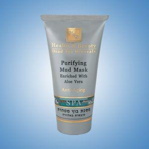 Маска для лица грязевая очищающая Health & Beauty, с экстрактом Алоэ Вера 150 мл