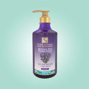 Крем для душа увлажняющий Health & Beauty, (жидкое мыло для тела бесщелочное) Лаванда 780 мл