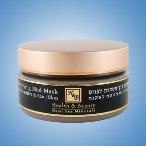 Маска для лица грязевая очищающая Health & Beauty, с экстрактом Алоэ Вера 220 мл