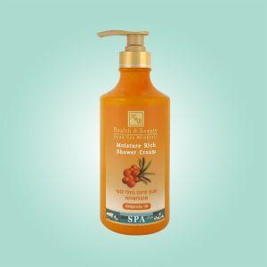 Крем для душа увлажняющий Health & Beauty, (жидкое мыло для тела бесщелочное) Облепиха 780 мл