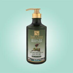Крем для душа увлажняющий Health & Beauty, (жидкое мыло для тела бесщелочное) Оливковое масло и Мёд 780 мл