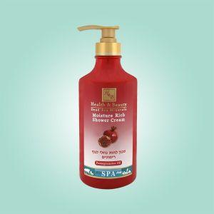 Крем для душа увлажняющий Health & Beauty, (жидкое мыло для тела бесщелочное) гранат 780 мл