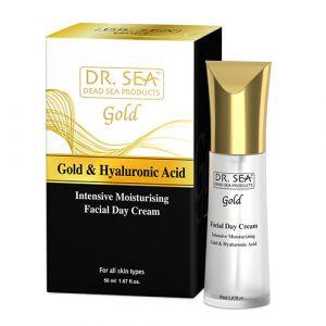 Интенсивный увлажняющий дневной крем для лица с золотом и гиалуроновой кислотой Dr.Sea 50 мл
