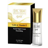 Ночной питательный крем для лица с золотом и витамином Е Dr.Sea 50 мл
