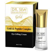Крем-сыворотка для лица с лифтинг-эффектом с золотом и пептидным комплексом Dr.Sea 30 мл