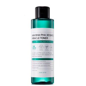 Тонер для проблемной и чувствительной кожи с AHA/BHA/PHA кислотами Some By Mi 30 Days Miracle Toner, 150 мл.