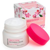 Крем для лица с экстрактом цветов вишни FarmStay Pink Flower Blooming Cream Cherry Blossom 100 мл